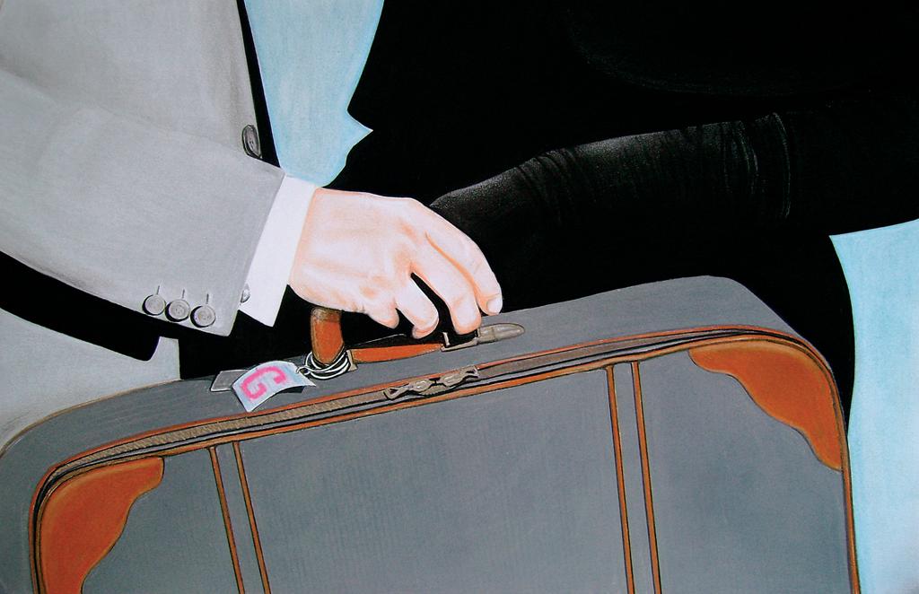 The end of love affaire (2010) Lápiz y pastel sobre papel. Medidas 31,5 x 46,5 cm.