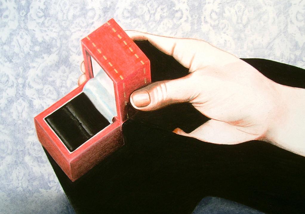 The Ring (2009) Lápiz y pastel sobre papel. Medidas 28 x 30 cm.