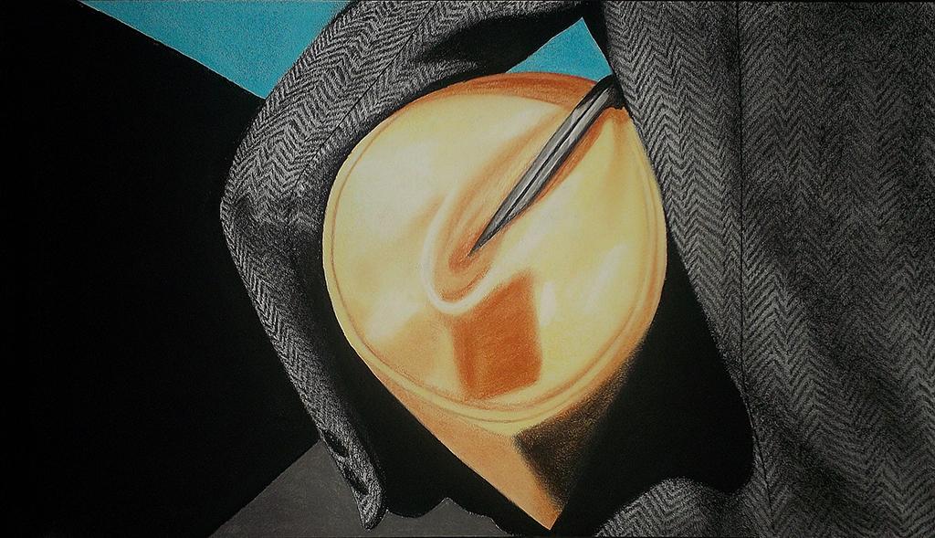 Marnie (2013) Lápiz y pastel sobre papel. Medidas 40 x 70 cm.