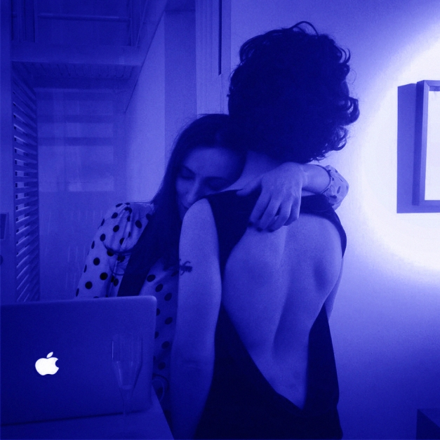 Blue Velvet. Performance junto a Nacho Iasparra en Praxis, junio 2015.