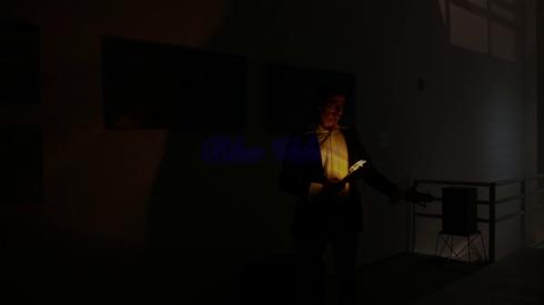 Blue Velvet. Performance junto a Nacho Iasparra en Praxis, junio 2015