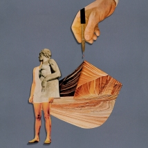 Con él Mismo. (2016) Collage. Medidas: 52 x 37 cm