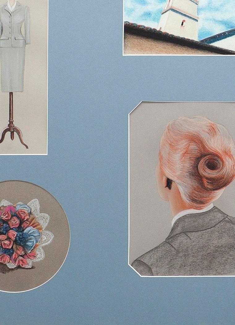 Vértigo, 2016 (detalle) Lápiz y pastel sobre papel. 80 x 120 cm.