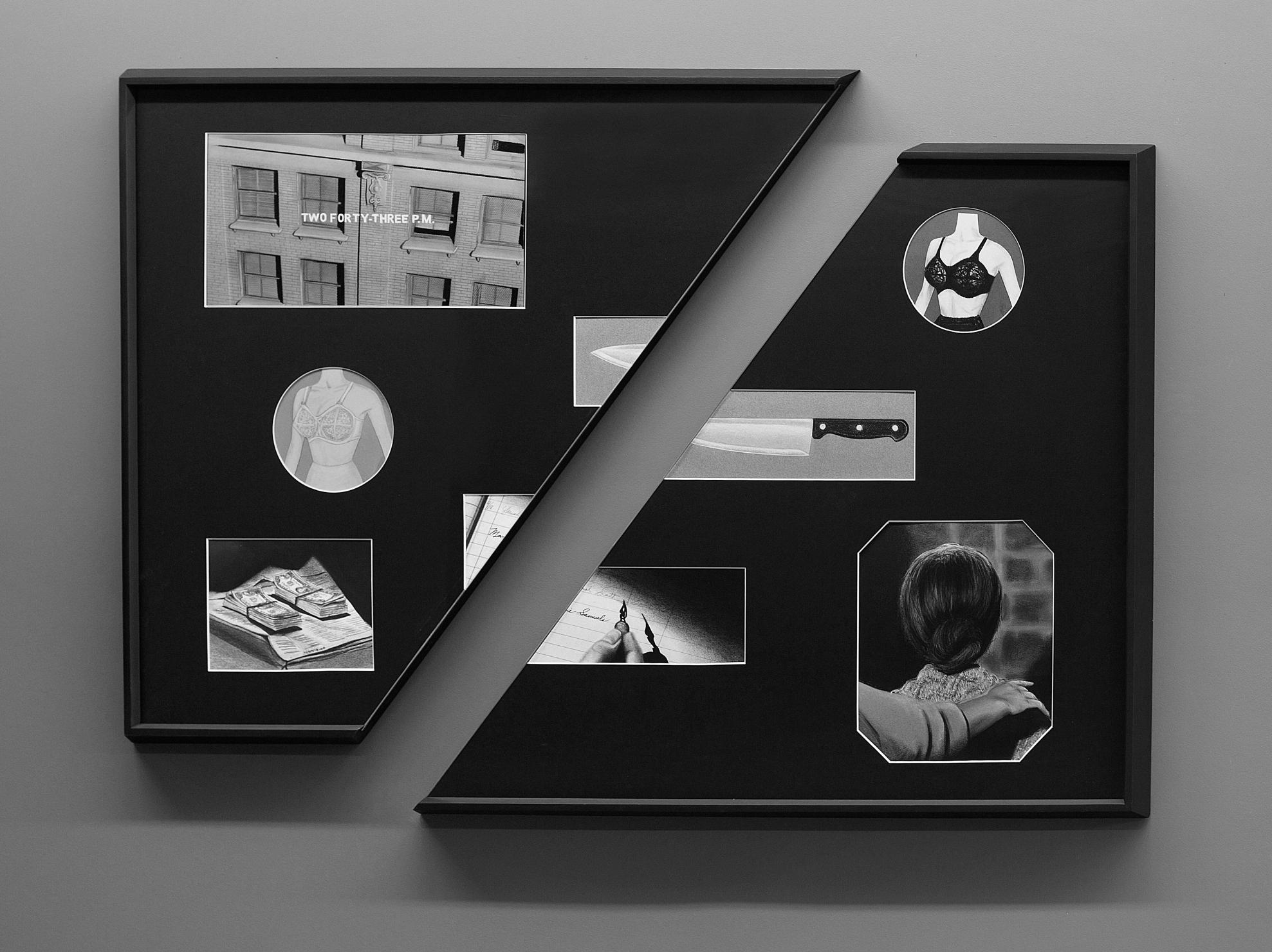 Psycho, 2016. Dibujo, lápiz y pastel sobre papel montados en passepartout. 80 x 120 cm.