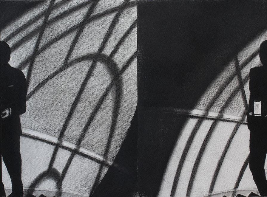 Paranoia. Serie Fatale, 2018 | Paranoia. Series Fatale, 2018 Lápiz y pastel sobre papel | Pencil and pastel on paper 29.5 x 40.5 cm | 11.6 x 15.9 in