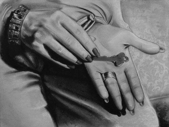 Secreto. Serie Fatale, 2018 | Secreto. Series Fatale, 2018 Lápiz y pastel sobre papel | Pencil and pastel on paper 30.5 x 40,5 cm | 12 x 15.9 in