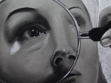 Tratamiento I. (Detalle   Detail) Serie Fatale, 2018   Tratamiento I. Series Fatale, 2018 Lápiz y pastel sobre papel   Pencil and pastel on paper 31,5 x 50 cm   12.4 x 19.6 in