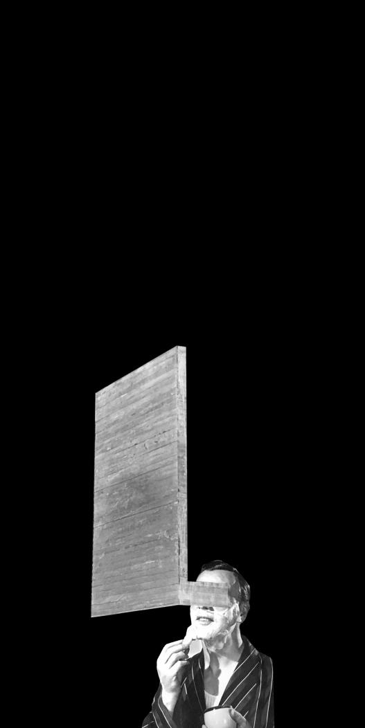 Él (negador), 2020   Él (negador), 2020 Collage   Collage 50 x 25 cm   19.7 x 9.8 in